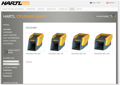 ORDER CRUSHERS AND SCREENERS